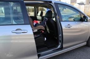 minivan baby in seat